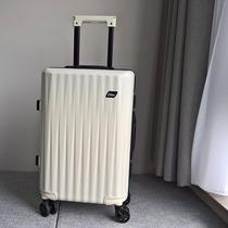 寸铝框旅行箱皮箱登机箱密码箱20寸万向轮拉杆箱女24行李箱男ELLE