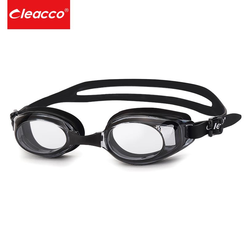 力酷泳镜平光透明无度数高清防水防雾游泳镜男女游泳装备游泳眼镜