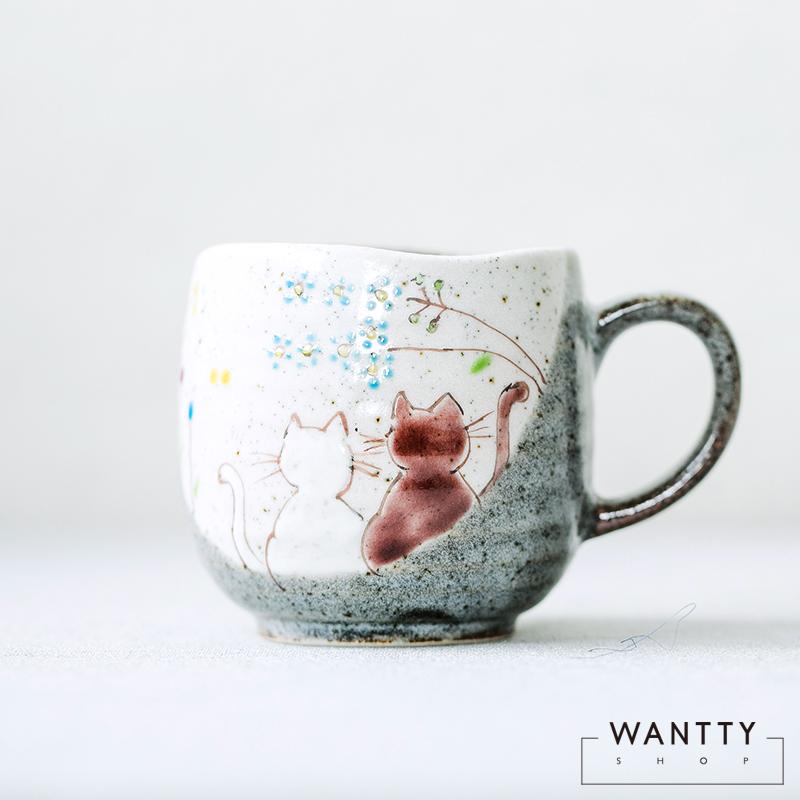 九谷烧陶瓷马克杯,创意复古送女生礼物