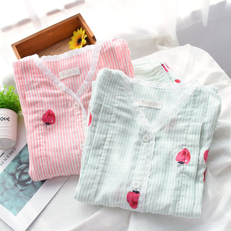 Pregnant womens summer suit pajamas 2-piece breathable maternity clothes summer may thin clothes July lactation clothes go out after delivery