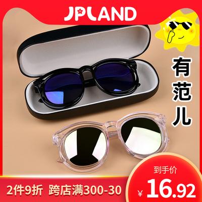 儿童眼镜太阳镜2岁宝宝2-10岁男童女童防紫外线偏光款时尚墨镜潮