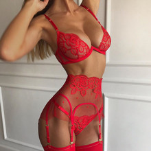 Lace Sexy Underwear Babydoll Bra Panties For Women Lingerie