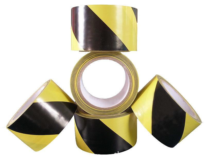 消防\黄黑斑马胶带地毯\贴地标识胶带\警示胶带黄黑4.8cm宽