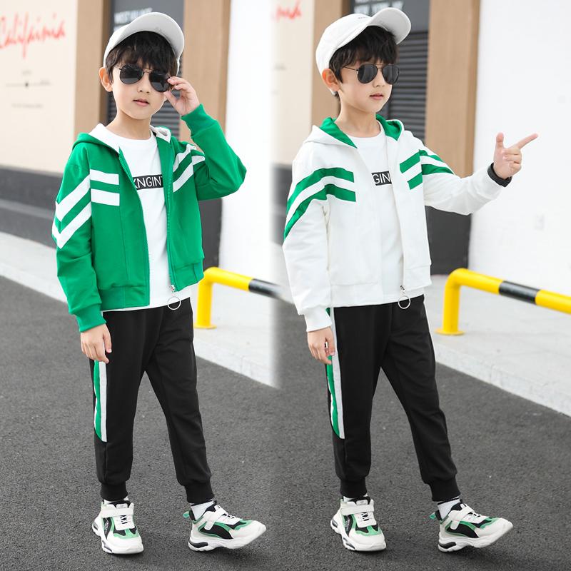 儿童衣服男童运动套装卫衣洋气小男孩帅气潮装2020新款春秋款韩版