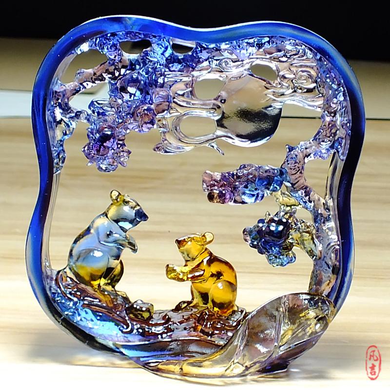 Домой декоративный статья животное мышонок украшение высококачественный стекло качели установить отдавать брат выйти замуж подарок новый свадьба статья