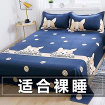 网红床单单件夏季水洗棉被单学生宿舍被罩单人床儿童ins风男双人