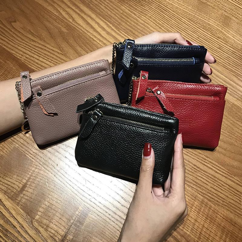 真皮简约女式韩版短款迷你零钱包限时抢购