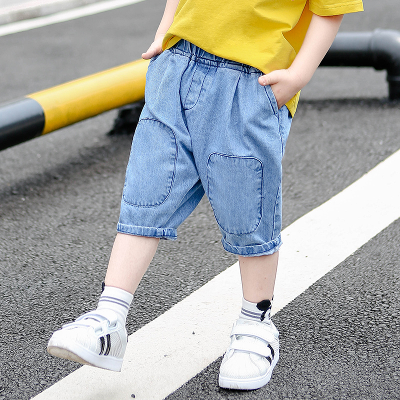 童装男童牛仔短裤2019新款儿童裤子39.00元包邮