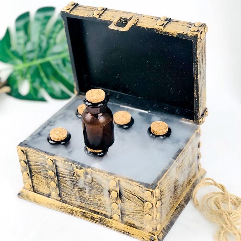 创意月光宝盒干冰分子料理主题盘