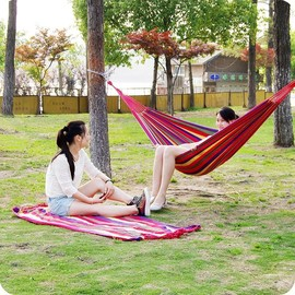outdoor adult canvas camping Mabogany cot bed hammock park图片