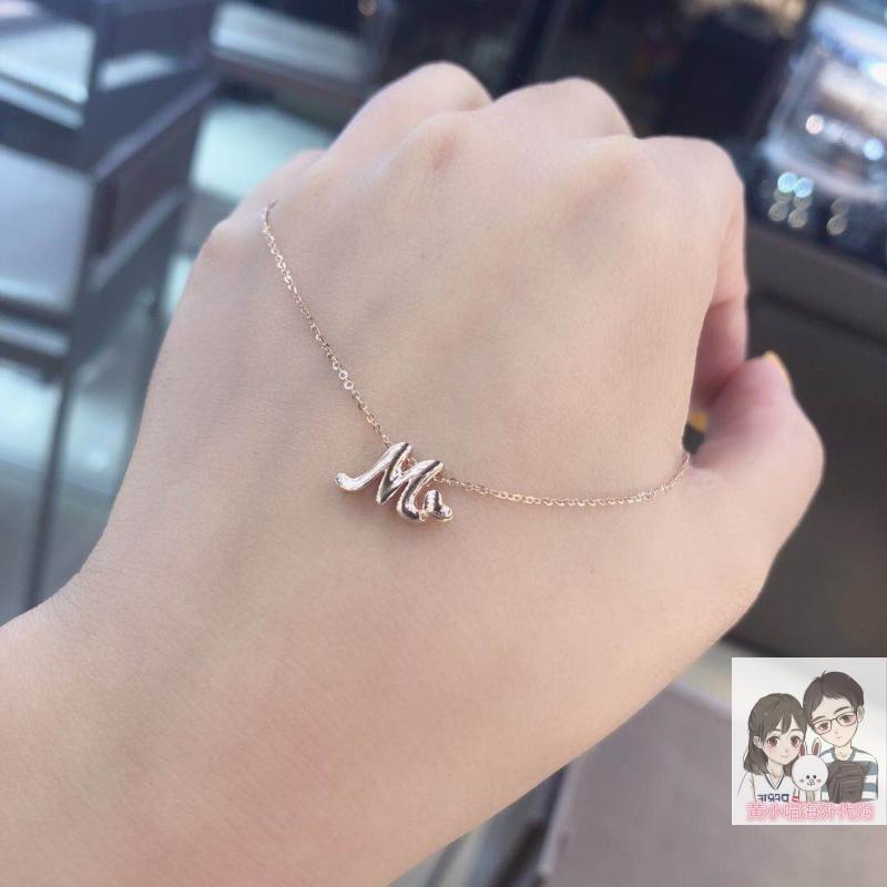 香港六福珠宝专柜代购 新款18k玫瑰金金AU750Love Me项链 可调节