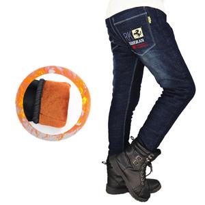 男童加绒加厚2021儿童棉裤直筒裤子