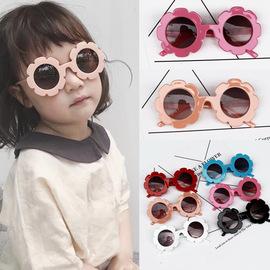 1380太阳花儿童眼镜女小孩装饰花朵墨镜宝宝太阳镜男遮阳防紫外线图片
