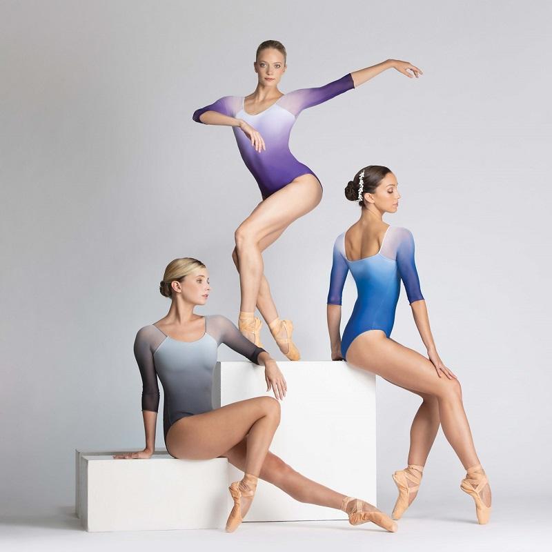 浮生若舞ballet rosa渐变中袖方背芭蕾舞蹈瑜伽基训服练功服ayala