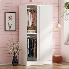 衣柜实木现代简约经济型儿童组装卧室推拉门简易木质衣橱出租房