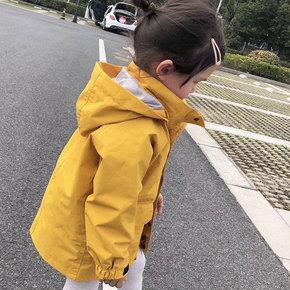 儿童外套韩版潮衫时尚防风衣中大童冲锋衣洋气亲子装男童女童春装