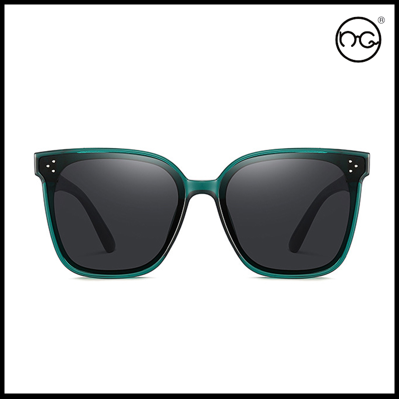 Ng glasses GM same her black super Sunglasses Dark Green White Sunglasses show face small square super large frame glasses