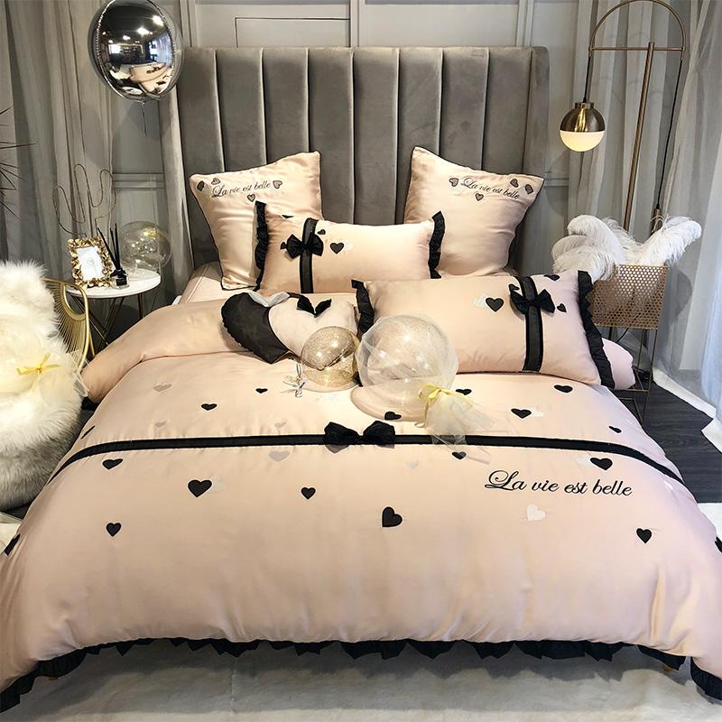 夏季天丝四件套网红款丝滑裸睡亲肤床单被套夏天冰丝床上用品套件