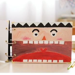 大嘴王国粘贴式DIY可爱纪念大容量票据收纳照片宝宝相册纪念册