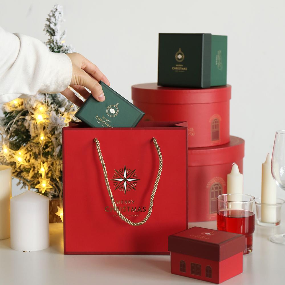 杂啊 圣诞颂歌烫金礼品袋 北欧创意平安夜送女友礼物包装盒礼品盒限1000张券
