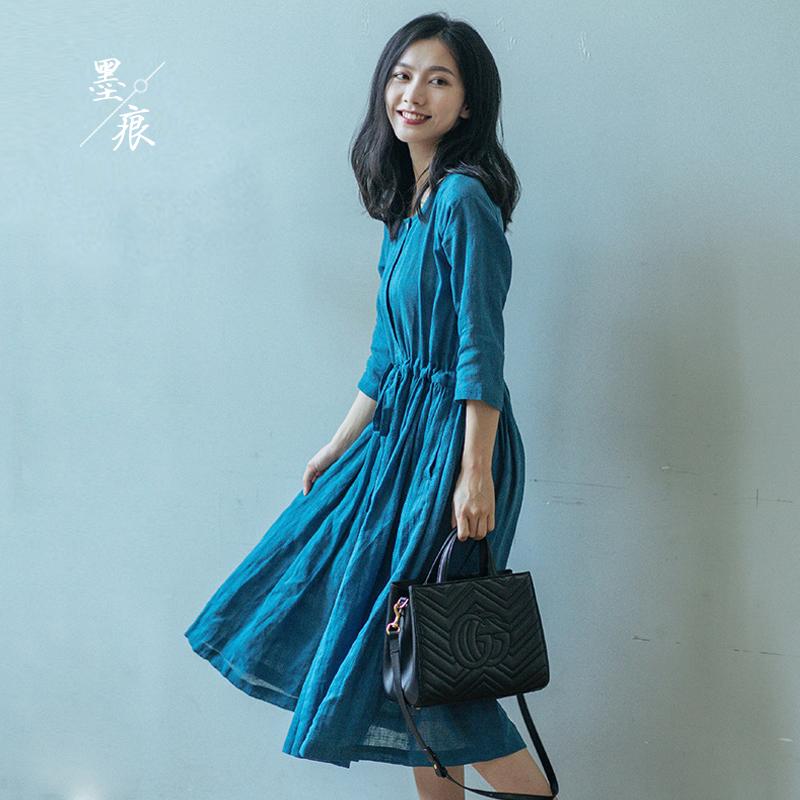 10月31日最新优惠亚麻小心机收腰显瘦2019夏装连衣裙