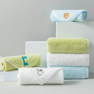 雪仑尔毛巾家纺 A类纯棉儿童小毛巾 柔软吸水洗脸方巾3条装