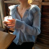 秋季 外套宽松 中长款 2018年新款 马海毛毛衣女薄款 慵懒风针织开衫