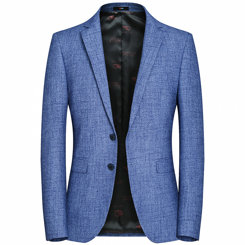 New mens casual and slim blue blazer top