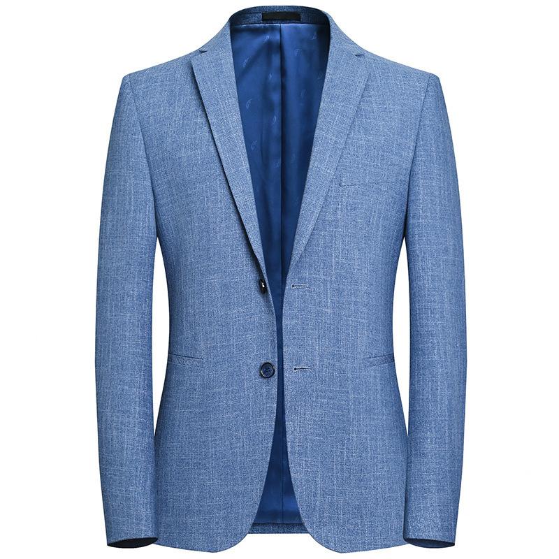 Autumn 2020 new mens casual slim blue Blazer Jacket Korean fashion youth suit single Western Top