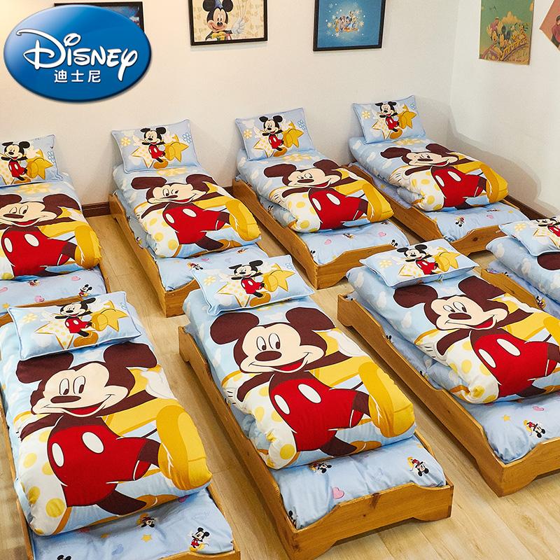 迪士尼纯棉儿童幼儿园被子三件套含芯六宝宝午睡被褥入园床上用品