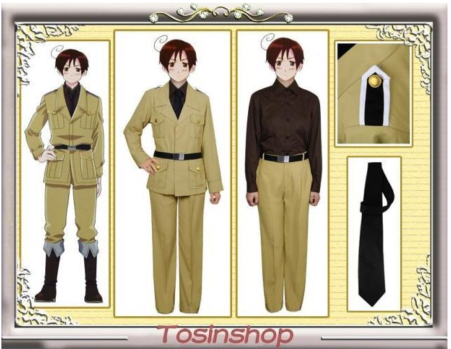 APH HETALIA personification South Italy CoS / Cosplay clothing customization