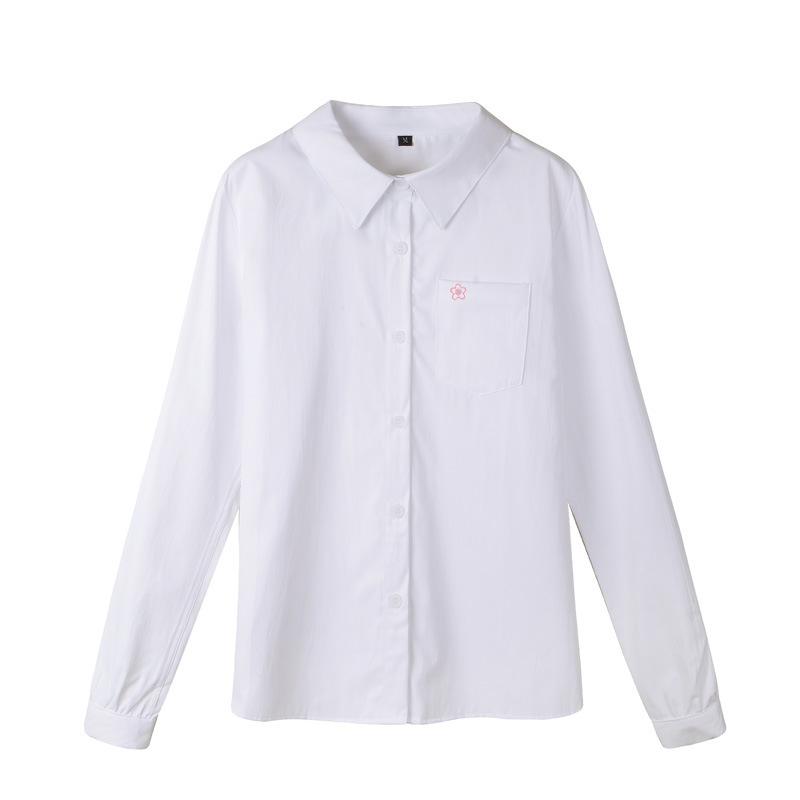 夏服2色正统jk制服尖领角襟衬衫10月25日最新优惠