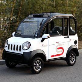 电动四轮车女性全封闭式家用接送孩子代步小型电瓶式新能源汽车图片