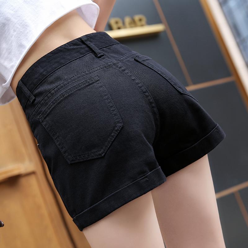 牛仔短裤女夏超高腰2020款网红新款学生黑色宽松外穿a字显瘦热裤