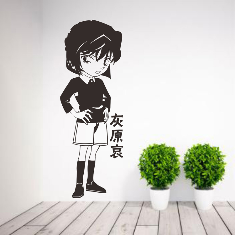 Famous detective Conan wall stickers ash Hara AI stickers cartoon animation two dimensional students dormitory bedroom wall stickers