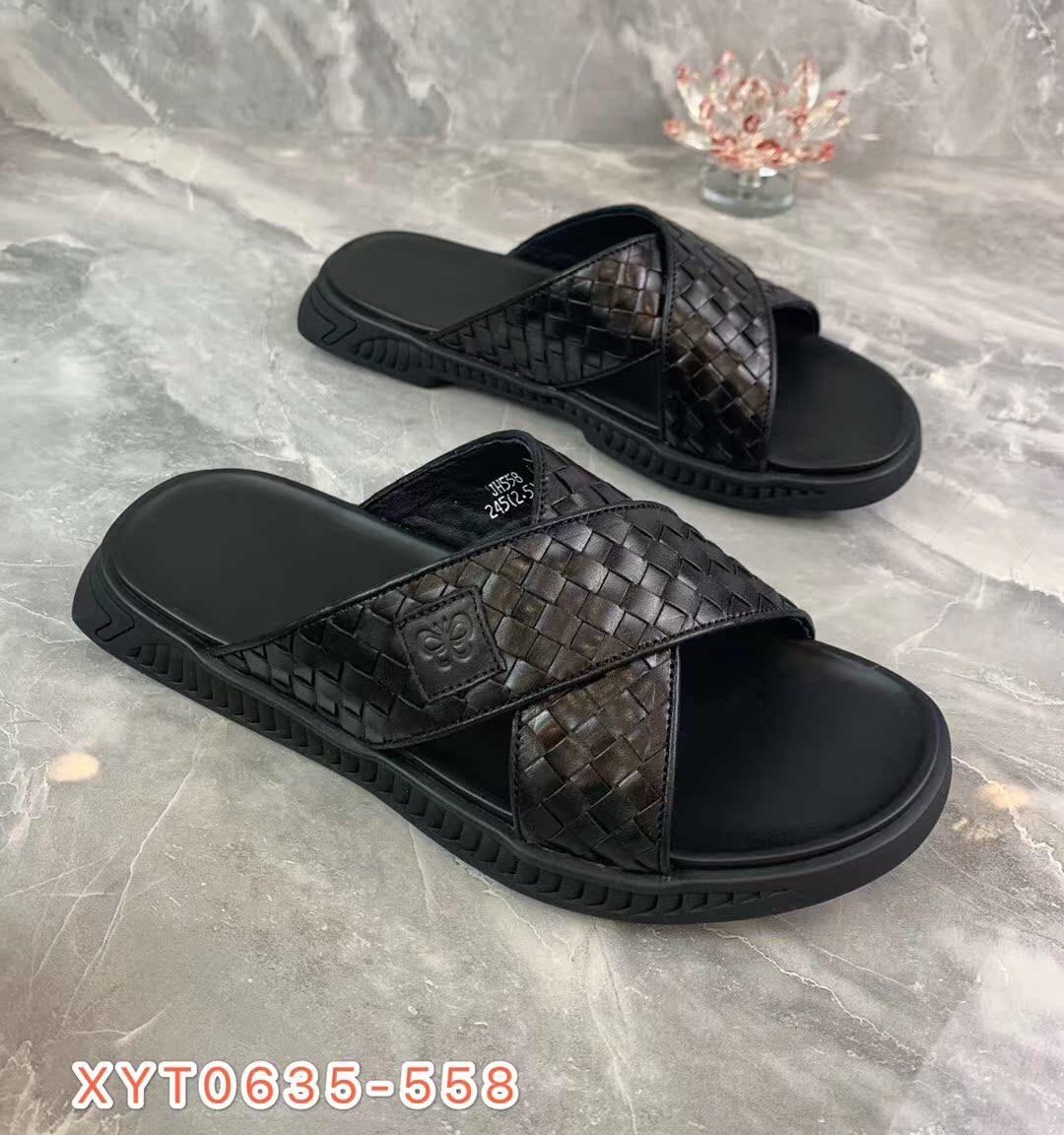 【西亚图】20年夏款拖鞋真皮鞋运动凉鞋休闲拖鞋露趾男士拖鞋