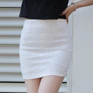 2020夏季一步裙半裙蕾丝半身裙包臀裙女高腰修身职业短裙弹力包裙