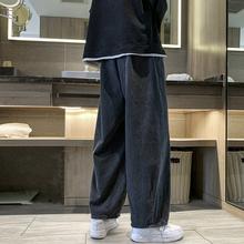 牛仔裤男潮牌宽松直筒阔腿裤夏季高街休闲拖地长裤男韩版潮流裤子