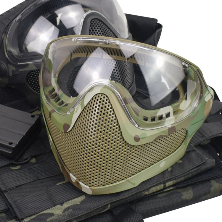 Cosplay pilot mask camouflage half face protective tactical mask CS equipment tactical accessories