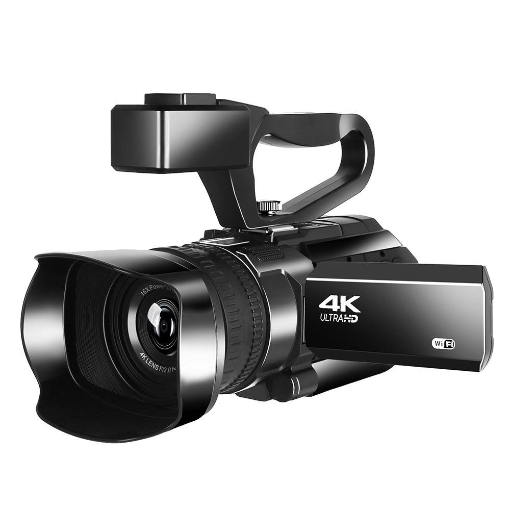 新款手持式高清数码摄像机4K会议摄录一体机短视频摄像机DV暂停