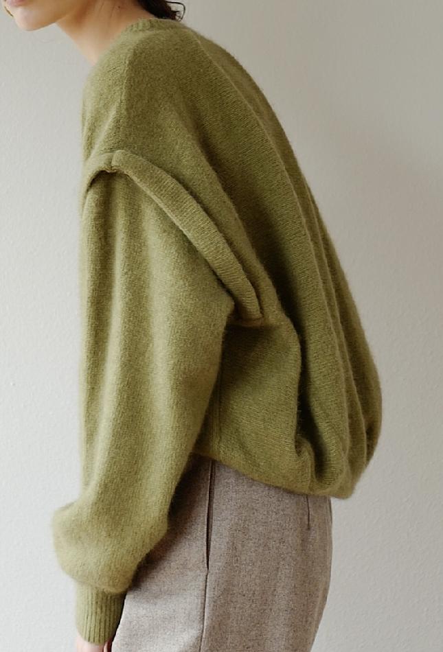 第三批订单!CLANE日本设计师贵牌松本惠奈质感廓形落肩款毛衣