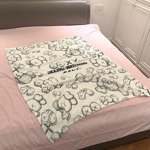 潮可爱卡通毛毯被珊瑚绒夏季盖毯法兰绒沙发毯子办公室午儿童睡毯