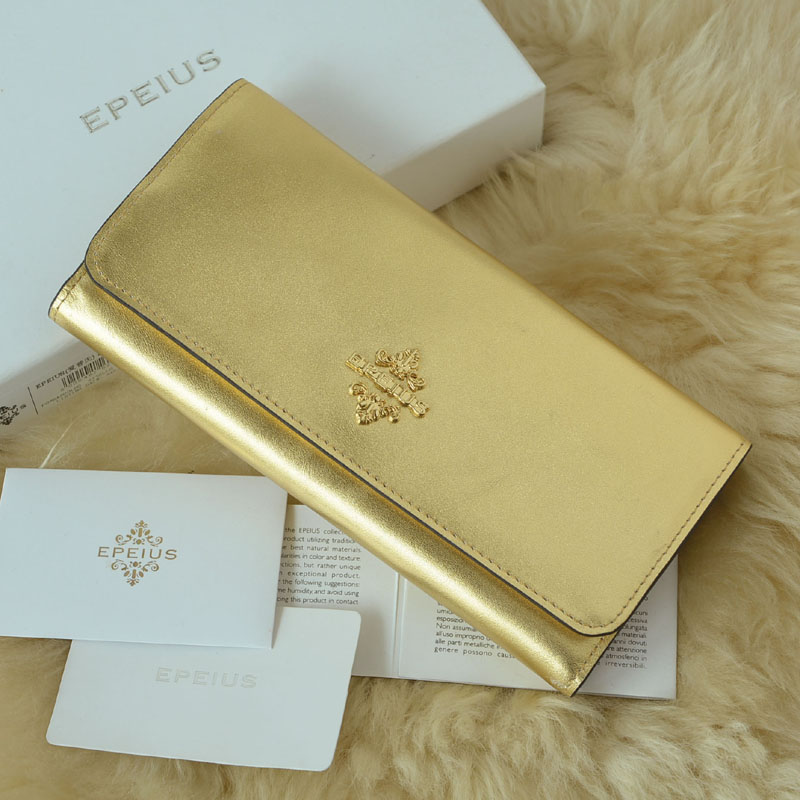 Epples gold wallet womens long money recruitment large capacity mobile phone bag simple and generous hand bag womens mail bag