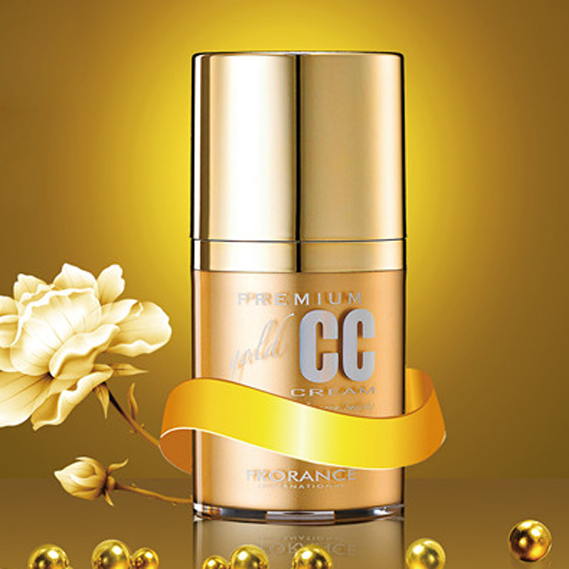 Proles Prorance Florence gold repair CC cream foundation solution to moisturize and brighten your complexion.