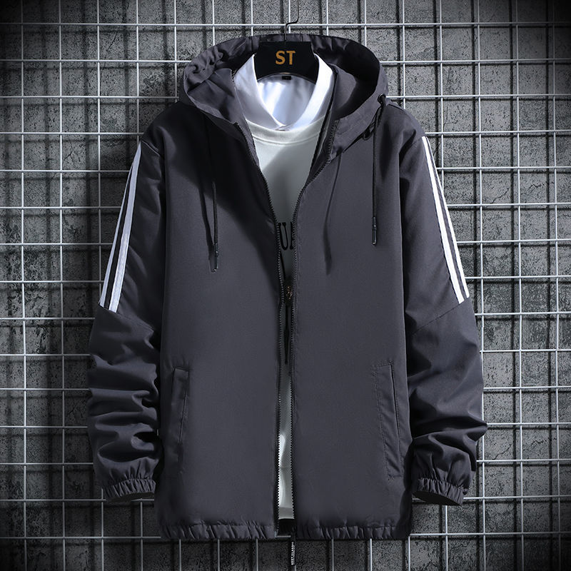 Autumn mens Plus Size jacket coat fat guy extra large loose casual thin fat man Hoodie