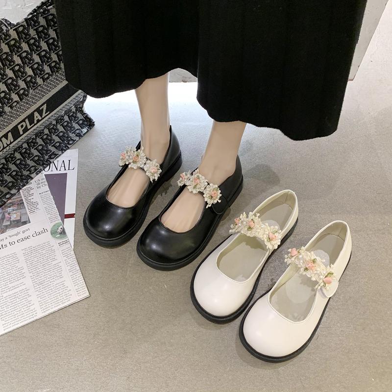 2021春季新款日系jk花朵圆头小皮鞋质量好不好