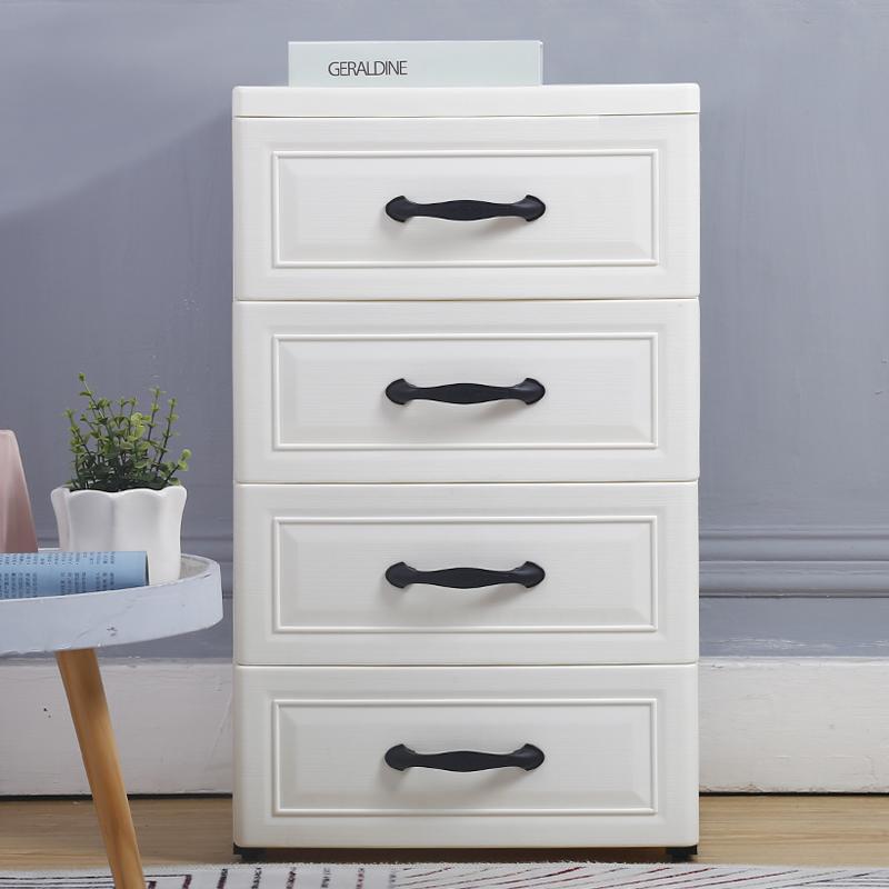 40cm宽夹缝收纳柜子抽屉式厨房置物架窄卫生间塑料储物组合收纳箱限10000张券