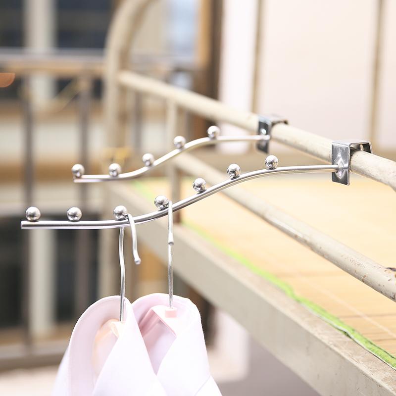 学生宿舍床边收纳挂钩挂架简约多功能铁艺挂衣排钩5珠7珠