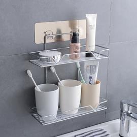 卫生间浴室置物架厕所墙上壁挂免打孔吸壁式洗手间沐浴用品收纳架