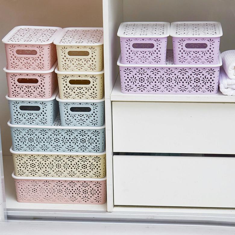 家用化妆品储物盒子文胸内裤整理箱塑料抽屉式内衣袜子收纳盒分格
